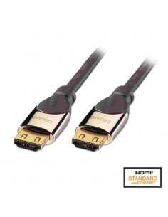 Cable Lindy HDMI Locking Cromo M/M 7.5m (41445)